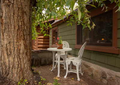 This is an image of Exploration Cabin front garden seating