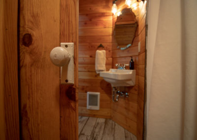 Bathroom from water closet