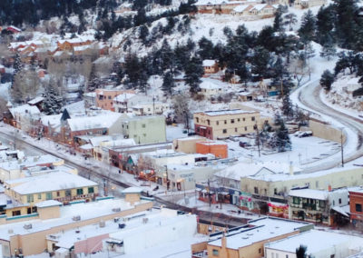 Downtown Estes Park in Winter