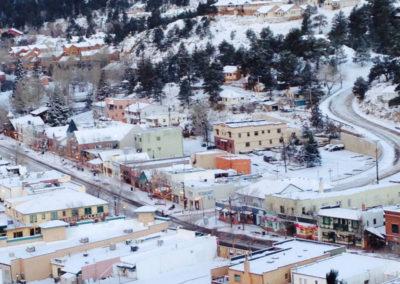 Downtown Estes Park in Winter