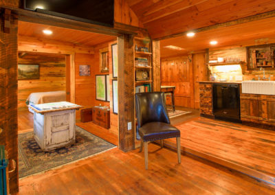 Storybook Exploration Cabin is an Extraordinary Mountain Town Vacation Home in Estes Park CO near Rocky Mountain National Park. This is an image of the foyer.