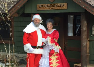 Image of Mr. and Mrs. Santa Claus a Exploration Cabin an extraordinary. vacation home