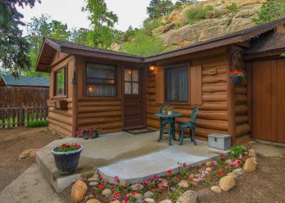 This is an image of Redemption Cabin, one of three Extraordinary vacation rentals by This Mountain Life in Estes Park CO USA.
