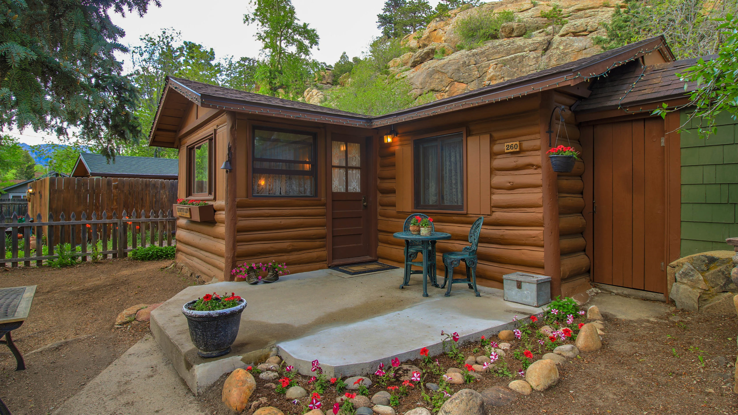 Redemption Cabin is an extraordinary vacation rental cabin near RMNP in Estes Park CO USA