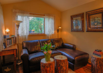 Redemption Cabin is a vacation rental in Estes Park Co. Here is an image of its Living Room.